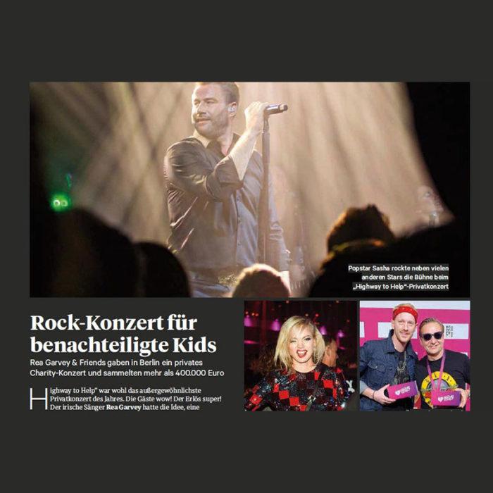 Rock-Konzert für benachteiligte Kids