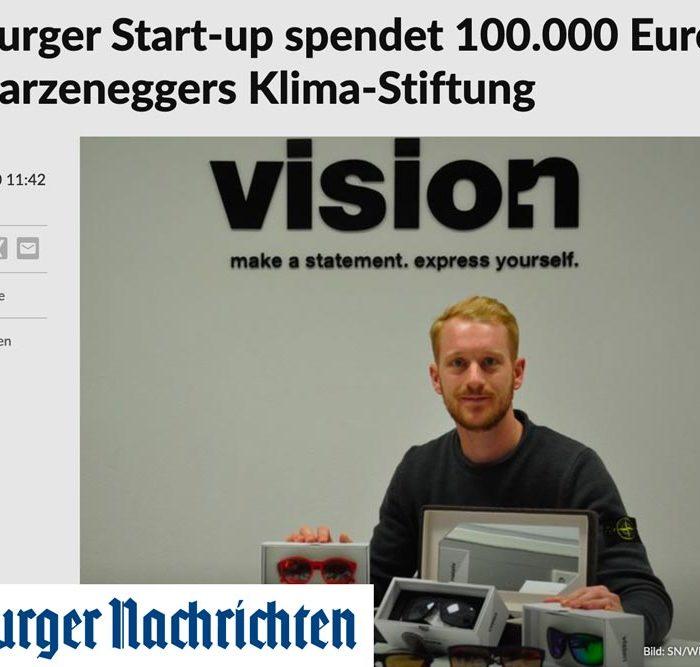 Salzburger Start-up spendet 100.000 Euro an Schwarzeneggers Klima-Stiftung