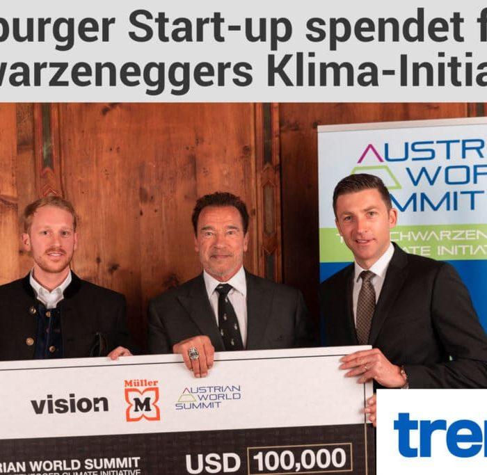 Vision1: Salzburger Startup sammelt 100.000 Dollar für Schwarzenegger