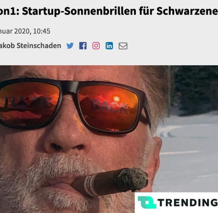 Vision1: Startup-Sonnenbrillen für Schwarzenegger