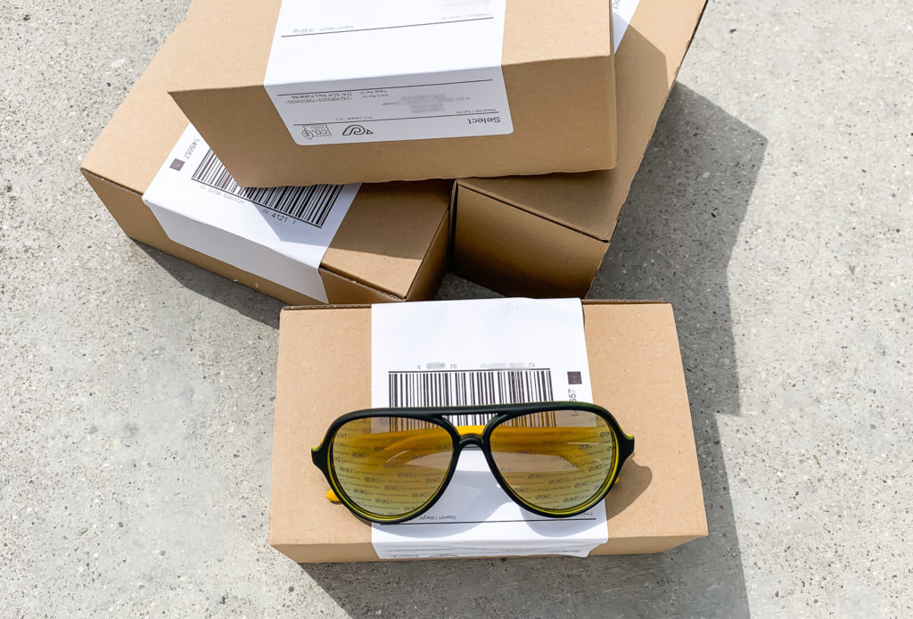 Vision1 Eyewear Partial Shipping & Storage of Customized Sunglasses Magazine partial shipping