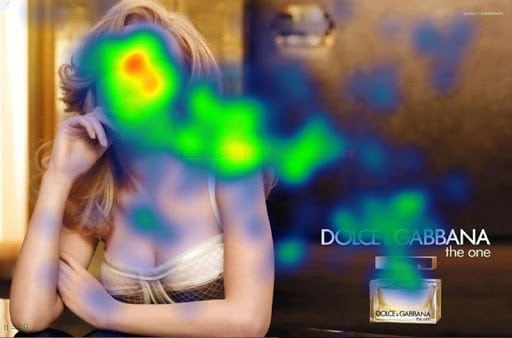 Scarlett Johannson - Heatmap - Eyetracking - Facing Facts: Why are our brains so obsessed with human faces?